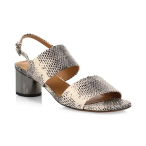Clergerie Leonieco Leather Snakeskin-Embossed Sandals - Cobra