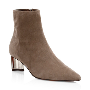 Clergerie Secret Suede Point Toe Booties - Oat