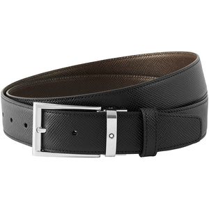 Montblanc Reversible Cut-To-Size Business Belt - Black/Dark Brown