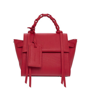 Elena Ghiselllini Angel S Jet Setter Leather Handbag - Scarlet