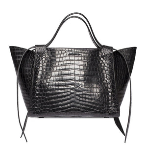 M Leather Handbag - Black