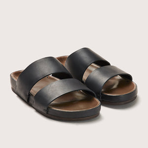 Feit Unisex Leather Sandal - Black