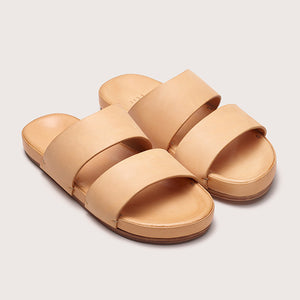 Unisex Leather Sandal - Natural