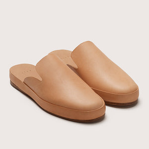 Women's Leather Mule - Natural