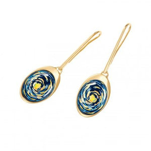 Hommage A Vincent Van Gogh - Waterdrop Earrings - Eternite
