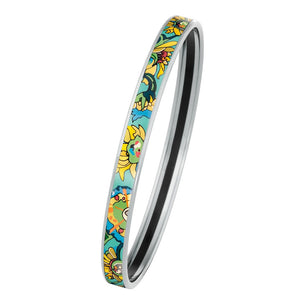FreyWille Hommage A Vincent Van Gogh Fleurs D'or Jour - Bordered Ultra Bangle