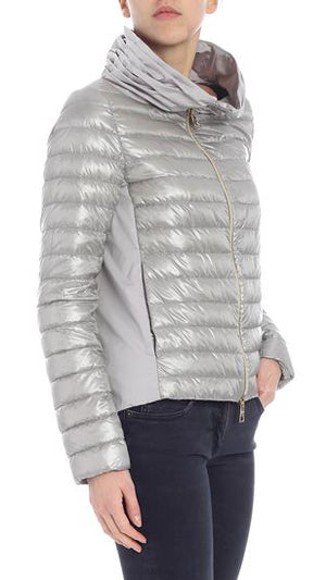 Herno Contrast Panels Down Jacket - Taupe