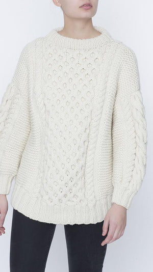 Tali Crewneck Sweater - Cream