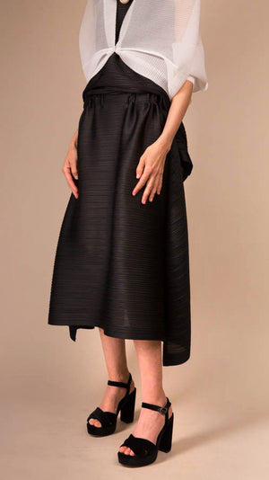 Issey Miyake Pleats Please Sail Bounce Skirt in Black