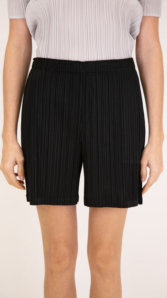 Issey Miyake Pleats Please Shorts in Black