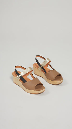Rachel Comey New Kinta Sandals - Taupe Vachetta Leather