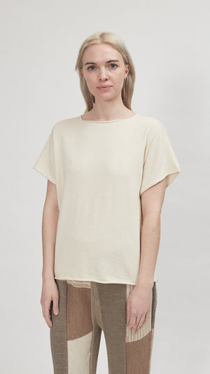 Lauren Manoogian Shell Tee in Raw White