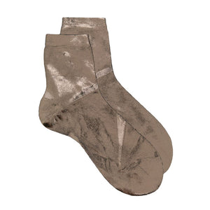 Maria La Rosa Metallic Ankle Socks - Dark Grey