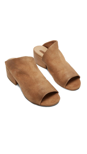 Marsell Cubetto Mules - Hazelnut Brown