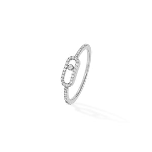 Messika Move Uno Pavé Diamond Ring 18k White Gold