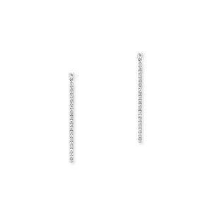 Messika Gatsby Bar Earrings With Diamonds in 18K White Gold