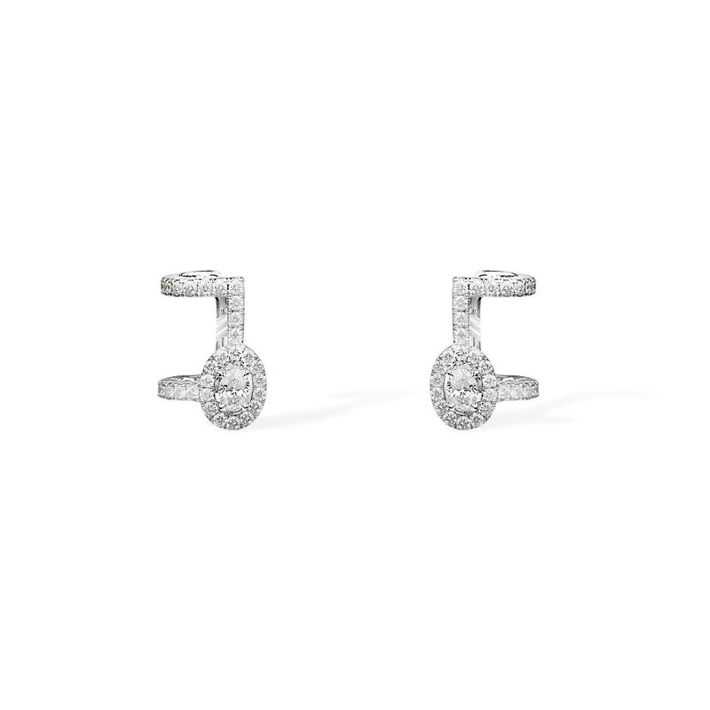 f2f963baee60e8 Messika Pavé Glam'Azone Diamond Earrings in 18k White Gold with Diamon –  Diamond Dream Jewelry + Apparel