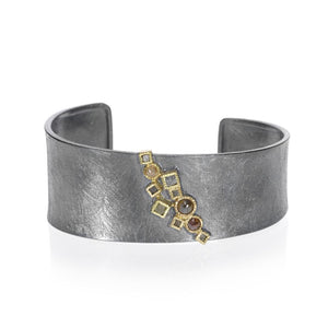 Todd Reed Tapered Cuff Bracelet With Rose Cut Diamonds