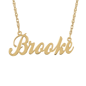 Signature Custom Name Plate Necklace