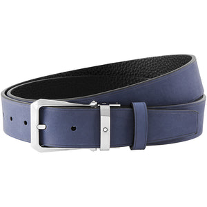 Montblanc Reversible Cut-To-Size Casual Belt - Navy/Black