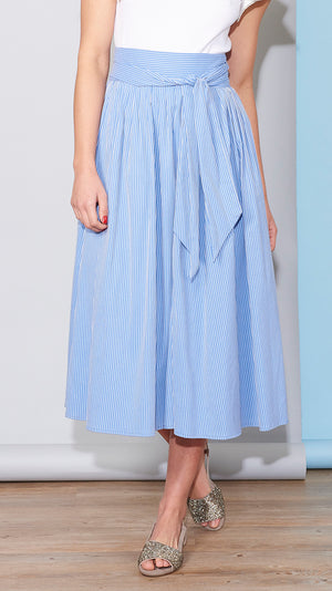 Scarlett Wrap Skirt - Blue Stripe