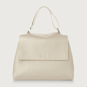 Sveva Medium Leather Shoulder Bag - Ivory