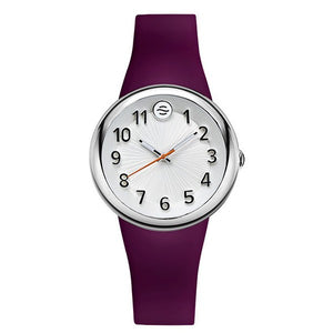 Fruitz Sport Watch with White Dial and Purple Strap
