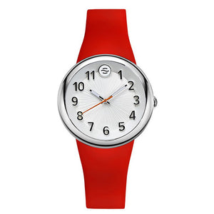 Fruitz Sport Watch with White Dial and Red Strap