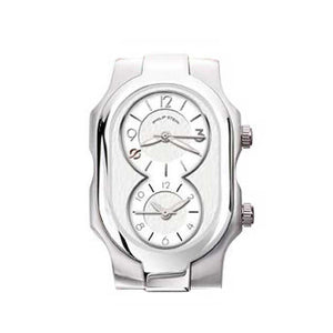 Philip Stein Signature Fashion Snow White Dial - Band Sold Separately
