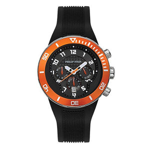 Men's 46mm Active Extreme Chronograph Watch - Orange Bezel Stainless Steel
