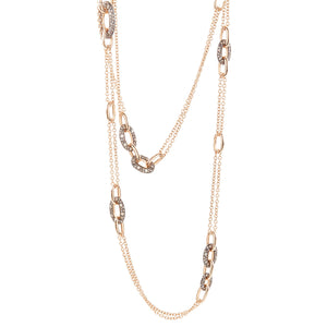 Pomellato Tango Chain Necklace with Diamonds in 18K Rose Gold