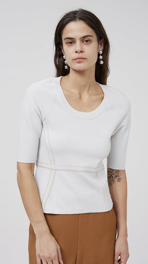 Rachel Comey Spurn Top - Cement Brighton Knit
