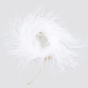 Rachel Comey Piuma Choker in White Ostrich Feather