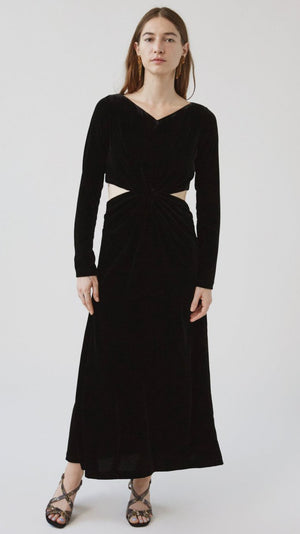 Rachel Comey Mast Dress in Black Velvet Stretch