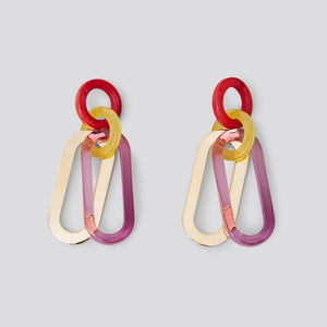 Rachel Comey Sour Earrings - Clear Purple Multi Acrylic
