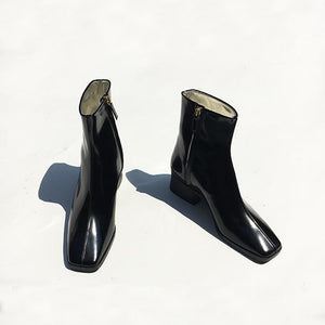 Suzanne Rae Boots in Black Spazzolato Leather