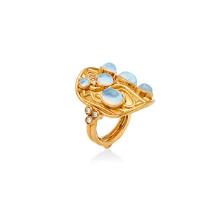 Temple St. Clair 18K Isola Ring with Moonstones