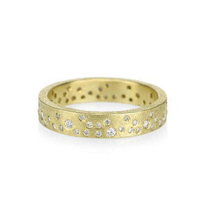 Eternity Band in 18K Yellow Gold with White Brilliant Cut Diamonds