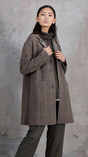 Tonet Reversible Grid Knit Coat