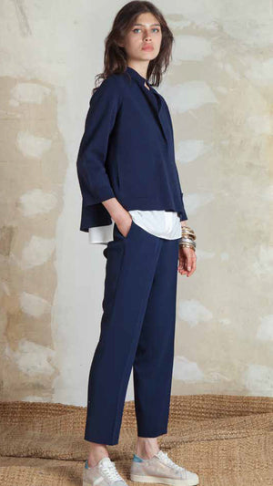 Tonet Cardigan With 3/4 Sleeves - Navy