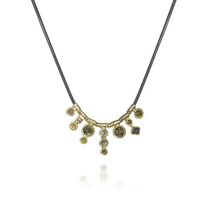 Todd Reed Raw Rose Cut Diamonds Pendant Necklace