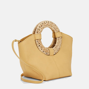 Ulla Johnson Axis Leather Mini Tote - Ochre