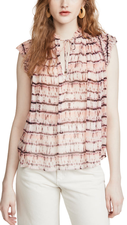 Ulla Johnson Clea Blouse - Blush Tie Dye