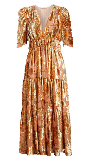 Ulla Johnson Loretta Dress - Rose Gold Velvet