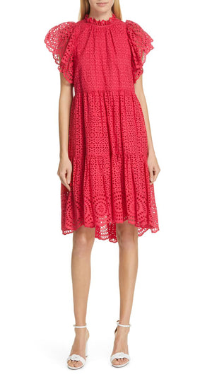 Ulla Johnson Norah Dress - Fuchsia