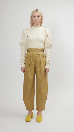 Ulla Johnson Dune Trouser in Fennel Seed