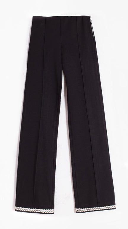 Vilagallo Guillia Pants - Black with Nautical Detail