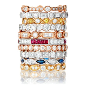 Signature Collection Stackable Eternity Bands in 18k White Gold