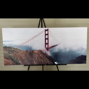 "Pre-made Golden Gate Bridge (46"" x 21"")"