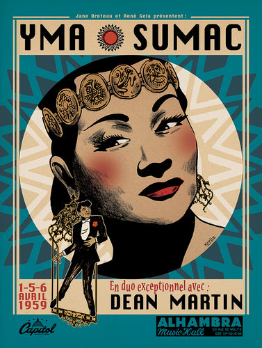 Yma Sumac Ft Dean Martin // by Christophe Merlin // Format 60x80